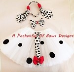 Dalmatian Tutu Costume with Ears and Tail