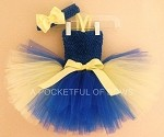 Tang Fish Tutu Dress, Blue and Yellow Tutu Dress