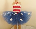 Red White and Blue Tutu Dress With Stars