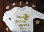 Birthday Body Suit or Toddler Tee with Custom Name