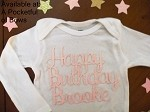 Happy Birthday Body Suit or Toddler Tee with Glitter Words