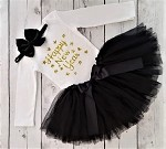 Happy New Years Tutu Outfit for Girls