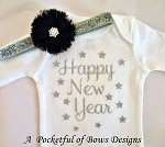 Happy New Year Outfit Girl, Baby Toddler and Girls