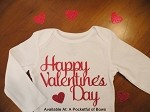 Happy Valentines Day Baby and Toddler Girls Shirt