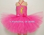 Hot Pink Birthday Tutu Dress with Age