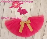 Easter Tutu Outfit Baby Girls and Toddler Girls Hot Pink