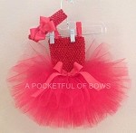 Hot Pink Tutu Dress with Matching Headband