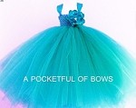 Turquoise Flower Girl Tutu Dress