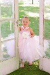 Pink Blush and Ivory Flower Girl Dress
