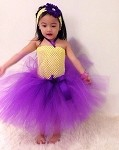Purple and Yellow Tutu Dress Toddler Birthday Outfit