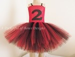Ladybug Birthday Tutu Dress with Birthday Age