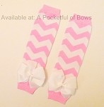 Leg Warmers Chevron Pink
