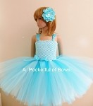 Turquoise and Light Blue Tutu Dress