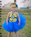 One Eye Face Tutu Costume Tutu Dress with Face
