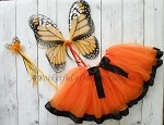 Monarch Butterfly Tutu Costume Birthday or Halloween