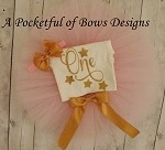 Twinkle Little Star Pink and Gold Birthday Tutu Outfit
