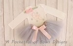 Silver and Pink Birthday Tutu Outfit with Custom Age
