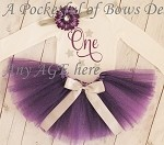 Purple Birthday Tutu Outfit Toddlers and Girls