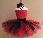 Lady Bug Red and Black Tutu Dress