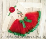 Christmas Tutu Outfit Red and Green