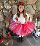 Christmas Red and White Tutu and Headband Christmas Outfit