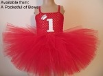 Red Birthday Tutu Dress with Age
