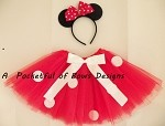 Red Mouse Tutu Costume with Mouse Ears Headband