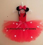 Red Mouse Birthday Tutu Dress Outfit