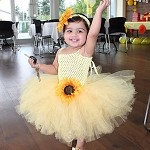 My Sunshine Sunflower Tutu Dress with Matching Sunflower Headband