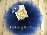 Royal Blue Birthday Tutu 3 piece Outfit