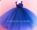 Royal Blue Tulle Toddler and Girls Ball Gown