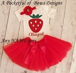 Strawberry Birthday Outfit Baby and Toddler Girls