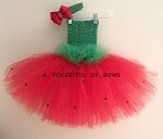 Strawberry Costume Watermelon Tutu Dress