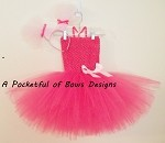 Pig Tutu Dress Costume with Pink Pig Tails Headband