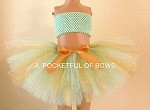 Mint and Gold Tutu Skirt