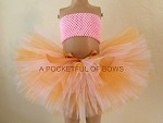 Pink and Gold Tutu Skirt