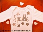 Sparkle Star Baby Girl and Toddler Shirt and Headband Set