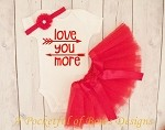 Love You More Valentine's Day Tutu Outfit