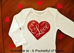Love Valentines Day Girls Top Newborn to 5T