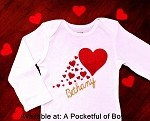 Baby Girl Valentine Day Outfit with Custom Name