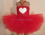 Valentine Tutu Dress with White Heart