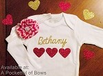 Body Suit or Toddler Tee with Name includes Headband