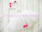 White Cat Tutu Costume Toddler and Girls