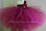 Burgundy Wine Flower Girl Dress Toddler Ball Gown
