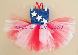 Red White and Blue Tutu Dress Toddler