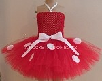 Bright Red Mouse Birthday Tutu Dress