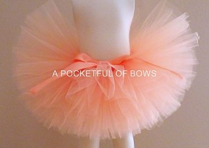 Peach Tulle Tutu Skirt
