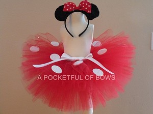 Red Mouse Tutu Skirt Costume