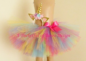 Unicorn Tutu Costume Birthday or Halloween